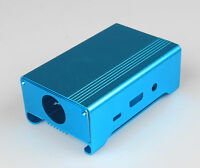 Blue Aluminum Alloy Case Shell Enclosure Box + Fan for Raspberry Pi 2 Pi 3 B+