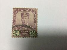 1922 Malaysia Malaya Johore 25c stamp Wmk Multi Script  CA