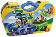 PLAYMOBIL 1.2.3 / 6792 Zoo Transportable et Bassin / Fille Garçon