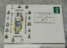 Private Cover FDC 1938-1971 Malaysian Singaporean 33 Years British Army Service