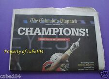 Ohio State Buckeyes Championship Columbus Dispatch Newspaper 01/13/2015