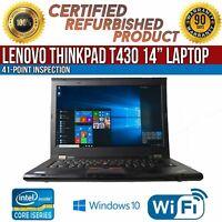 "C Grade Lenovo ThinkPad T430 14"" Intel i7 8 GB RAM 320 GB HDD WiFi Win 10 Laptop"