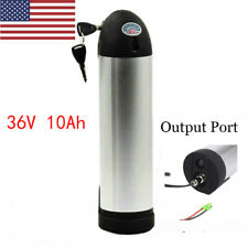 36V 10Ah Silver Lithium E-Bike Bottle Battery Waterproof for Electric Bicycle