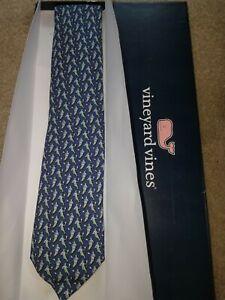 "55"" NWT Vineyard Vines Navy Lax Lacrosse Tie BRAND NEW in box"