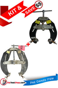 """Sumner 5"""" -12"""" and 2"""" to 6"""" Pipe Clamp Set Used Item"""