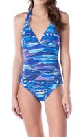 LAUREN Ralph Lauren Calypso Halter One-Piece Swimsuit $100 Size 8 # U11B 28 NEW