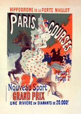 l'Hippodrome de la Porte-Maillot by Jules Cheret 90cm x 64cm Art Paper Print