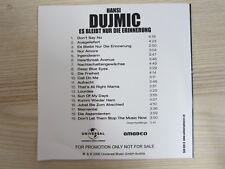 CD /  HANSI DUJMIC-ES BLEIBT NUR DIE ERINNERUNG  / PROMO / RARITÄT /  AUSTRIA /