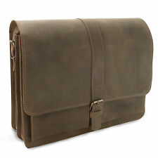Herren Umhängetasche - Laptoptasche NEW YORK aus braunem Leder - MADE in GERMANY