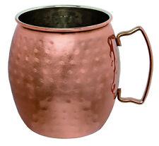 Piazza Moscow mule taza redondeado acero castaño y martillado 470 ml