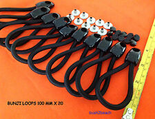 BUNJI LOOPs (RINGGRIP) 100 mm x 20 BLACK + POSTS tonneau repairs INC POSTAGE
