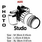 Creative Photography Camera Taking Picture Wall Sticker Photo Studio Home Decor