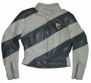 """ Harro "" Damen- Motorrad- Leather Jacket/Combination Jacket IN Blue Grey"