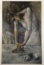DEPENDENT PABLO PICASSO HAND SIGNED SIGNATURE *WOMAN IRONING * PRINT W/COA