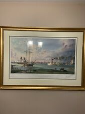 John Stobart - Detroit:A View of the City from the Canadian Shore c.1838 Framed