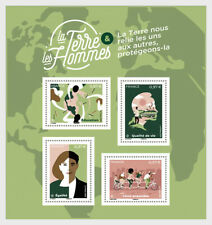 france 2020 Earth And Men Terre et Hommes education nature equality map ms4v mnh