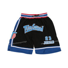 Space Jam Michael Jordan #23 Basketball Shorts Tune Squad Front Sewn Beach Short