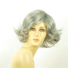 Perruque femme grise cheveux lisses ref  JEANETTE 51