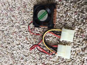 (1) 486 CPU Cooler 45 mm X 45 mm Sink NOS.