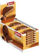 Loacker Tortina Biscuits, Dark Chocolate Hazelnut Italian Chocolate Biscuits 24
