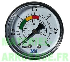 "Manomètre Piscine Pression 0-3 Bars Axial Sec 1/8"" (5x10) Pompe Filtre"