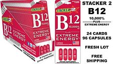 STACKER 2 B12 Stacker2 10,000% + EXTREME ENERGY (24 CARDS x 4CT = 96 CAPSULES)