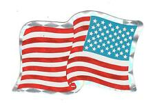 USA AMERICAN FLAG STICKER DECAL, Metallic, Vending Machine