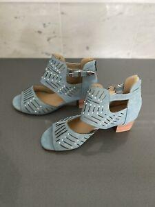 New Light Blue Block Sandals