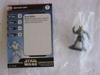 Star Wars Miniatures REBEL STORM BOTHAN SPY #01 (UC) Figure - New & Sealed