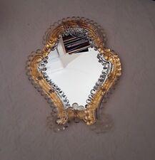 Art Deco Venetian Glass Mirror Gold Trim