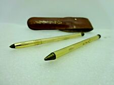 Vintage Alitalia Small Pen & Pencil Set with Leather Case