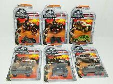 6 Jurassic Park World OFFICIAL Vehicles Jeep Kawasaki Triumph Mercedes Matchbox