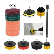 19x Drill Brush Attachment Set Power Scrubber Cleaning Kit Combo Scrub Tub Clean
