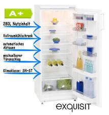Vollraumkühlschrank Standkühlschrank A+ 280l Weiss Flaschenablage
