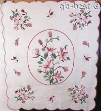 """Beautiful c 30s Floral Applique Vintage Quilt COTTAGE Sweet 88"""" x 74"""" Minty"""
