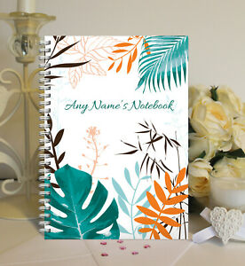 Personalised A5 Softbacked Notebook, Notepad, Tropical Designer Themed