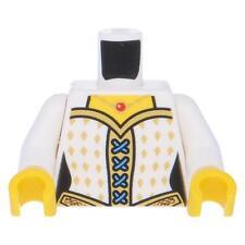 LEGO® Oberkörper Castle weiblich, Korsett mit goldenen Diamanten, Weiß
