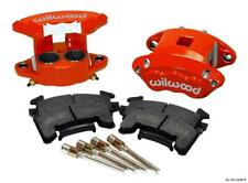 "WILWOOD D154 BRAKE CALIPER & PAD SET W/PINS, FRONT 2 PISTON 1.04"" RED METRIC GM"