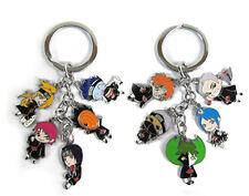2pcs Set Uzumaki Naruto Charm Metal Keychain あかつき 5 Pendants Keyring Xmas Gift