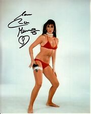 CAROLINE MUNRO signed SPY WHO LOVED ME 8x10 uacc rd coa BOND GIRL BIKINI & GUN
