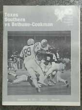 BETHUNE-COOKMAN UNIVERSITY @ TX SOUTHERN U COLLEGE FOOTBALL PROGRAM 1979 EX