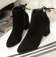 Women's Autumn Winter Short Boot High Heel Shoes Warm Martin Boots Plus Size