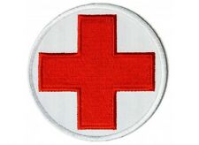 "(C14) RED CROSS MEDIC 3"" Round iron on patch (5454) EMT"
