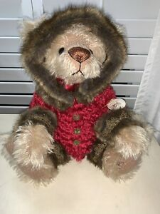 NWT  ANN INMAN-LOOMS LTD EDITION TEDDY BEAR #1 Pringle 1998