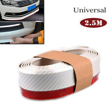 2.5M Carbon Fiber Car Lip Bumper Waterproof Rubber Protector Strips Universal