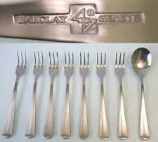 """Barclay Geneve OYSTER BAY 7 Seafood Forks + 1 sugar-spoon Stainless """"Colonial"""""""
