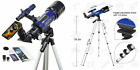 Telescope, 70mm/360mm Double Eyepieces Refractor Telescope with Tripod  picture