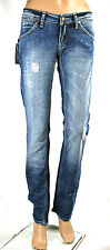 Jeans Donna Pantaloni Met Made in Italy Slim Fit Trousers C545 Tg da 25 a 33 Blu 25(38/40)