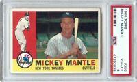 Mickey Mantle 1960 Topps Baseball Card Graded PSA 4 VG-EX Yankees #350 47292039