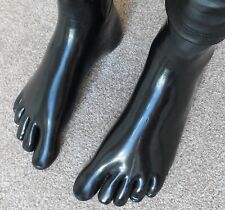 PREMIUM LATEX rubber black toe socks CATSUIT FEET MEDIUM NEW